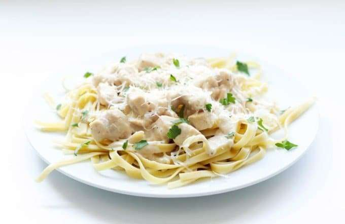 Skinny Chicken Fettucine